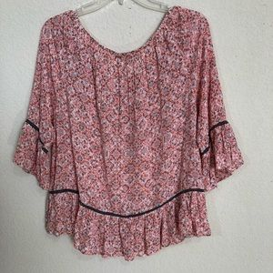 Democracy Boho Indie Off The Shoulder Tunic